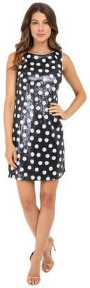Christin Michaels Matte Sequin Dot Dress Women's Dress