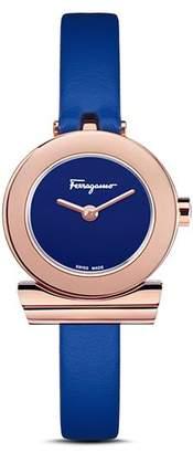 Salvatore Ferragamo Gancino Blue Strap Watch, 22mm