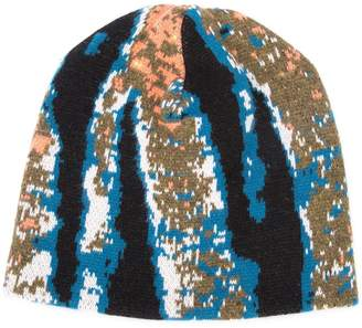 Baja East abstract tiger stripe beanie