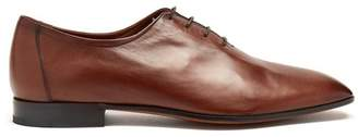 Berluti - Lorenzo Lecco Leather Oxford Shoes - Mens - Brown
