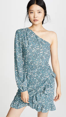 WAYF Michelyne One Shoulder Mini Dress