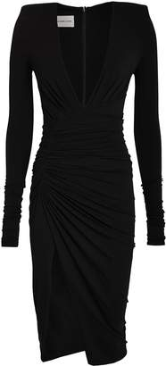 Alexandre Vauthier Ruched Asymmetic Jersey Dress
