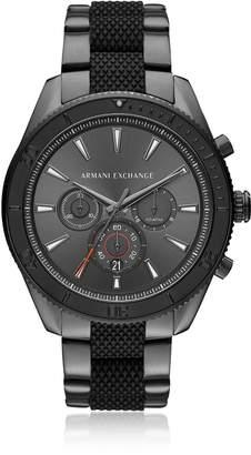 Armani Collezioni Armani Exchange Aix Grey Dial And Gunmetal Men's Chronograph Watch