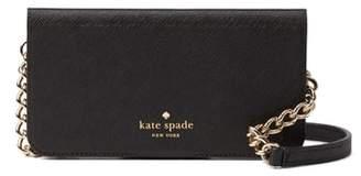 Kate Spade iPhone X & Xs leather folio crossbody