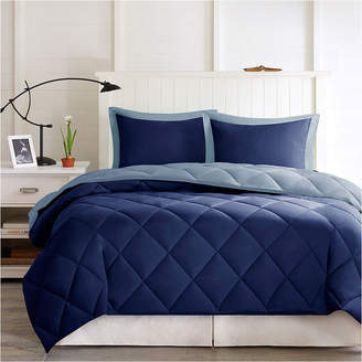 MADISON PARK ESSENTIALS Madison Park Essentials Larkspur Microfiber Reversible Down Alternative Comforter Set