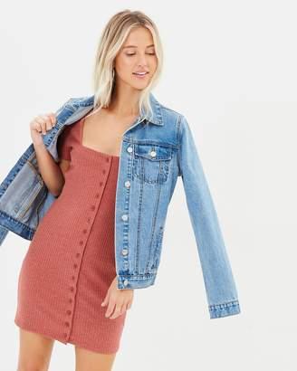 MinkPink Weekender Button Front Dress