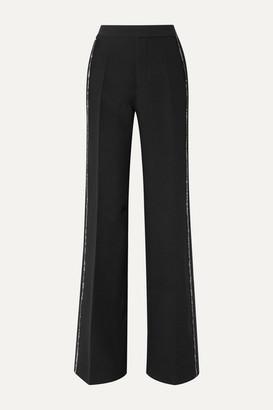 Philosophy di Lorenzo Serafini Crystal-embellished Crepe Wide-leg Pants - Black