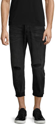 One Teaspoon Men's Mr. Browns Straight Fit Distressing Jeans