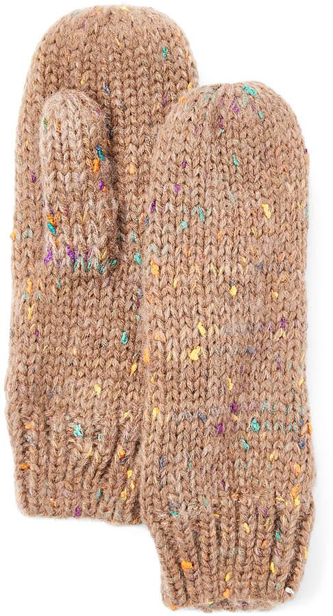 Brown Speckle Knit Mittens