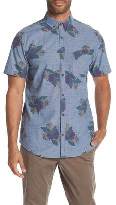 WALLIN & BROS Short Sleeve Printed Chambray Shirt