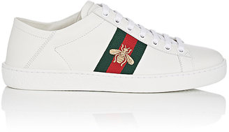 Gucci Women's New Ace Leather Sneakers $560 thestylecure.com