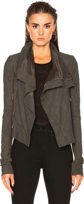 Rick Owens Blister Leather Classic Biker Jacket