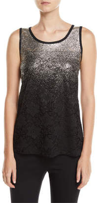 Berek Speckle-Border Easy Tank Top with Lace, Plus Size