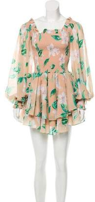 Caroline Constas Printed Mini Dress w/ Tags