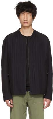 Issey Miyake Reversible Black Stitch DFC Zip-Up Sweater