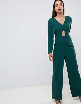 Asos DESIGN jumpsuit with cut out detail and wide leg