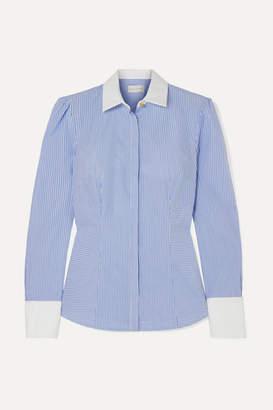 Rebecca Vallance Cassia Striped Cotton Shirt - Light blue