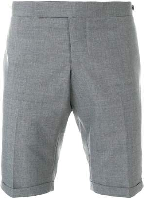 Thom Browne Low Rise Skinny Short With Red, White And Blue Selvedge Back Leg Placement In School Uniform Plain Weave