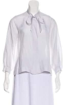 Dosa Silk Button-Up Top