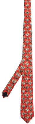 Burberry Modern Cut Check and Equestrian Knight Silk Tie