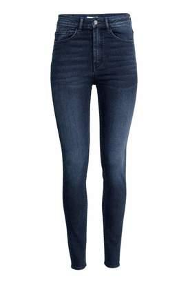 H&M Slim-fit Pants High waist - Dark denim blue - Women
