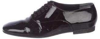 Clergerie Patent Leather Square-Toe Oxfords