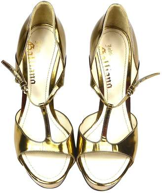 John Galliano Gold Patent leather Sandals