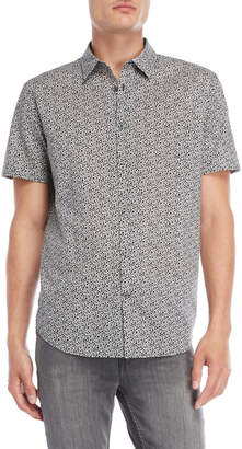 John Varvatos Leaf Short Sleeve Shirt