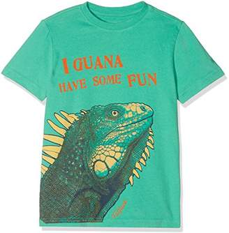 Fat Face Boy's Iguana Graphic T-Shirt, Green (Bright Grn), Years (Size: 4-5)