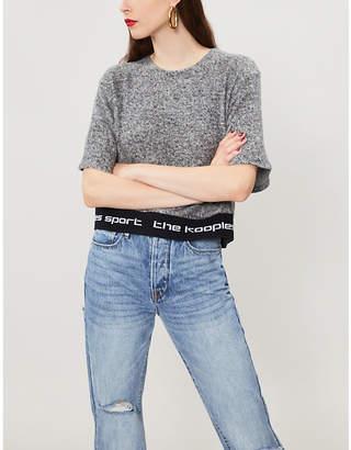 The Kooples Logo-waistband felt T-shirt