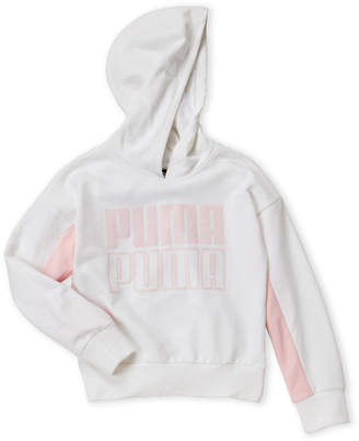 Puma Girls 7-16) Glitter Logo Hoodie