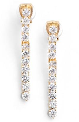 Women's Nadri Cubic Zirconia Linear Drop Earrings $90 thestylecure.com