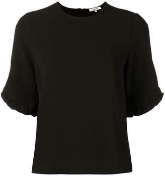 Ganni ruffled sleeve blouse