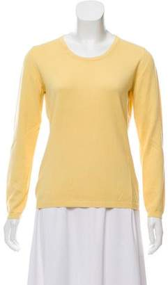Burberry Long Sleeve Scoop Neck Top