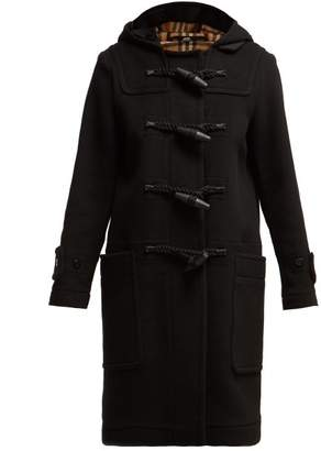 Burberry Grantham Wool Duffle Coat - Womens - Black