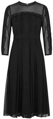 Max Mara Guido Embellished Georgette Dress