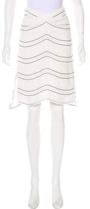 Proenza Schouler Striped Knee-Length Skirt