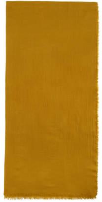 Dries Van Noten Yellow Cashmere Fily Scarf