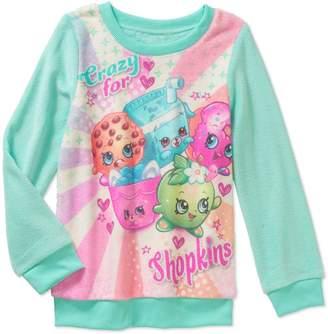 Minky Shopkins Girls' Mint Sweatshirt Crazy, Small