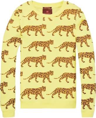 Scotch & Soda Snow Leopard Print Sweatshirt