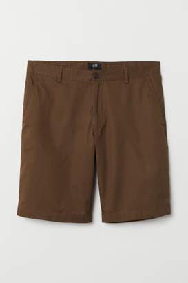 H&M Short Chino Shorts - Brown