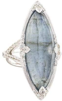 Jude Frances Labradorite, Quartz, & Topaz Cocktail Ring