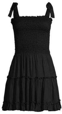 Cool Change Raegan Smocked Bodice Tiered Ruffled A-Line Dress