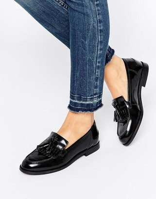 Oasis Leather Patent Loafer $73 thestylecure.com