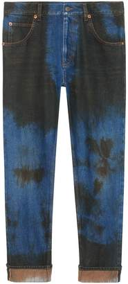 Gucci Washed denim loose tapered pant