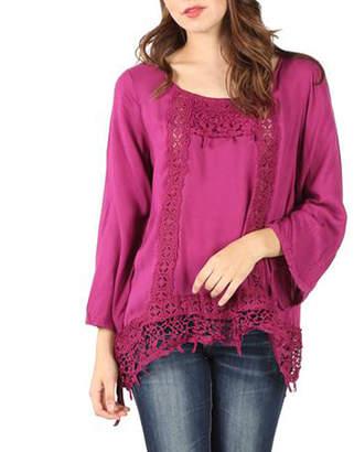 Asstd National Brand Crochet Trim Blouse