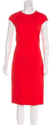 Diane von Furstenberg Scoop Neck Midi Dress