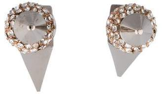 Assad Mounser Pavé Crystal Spike Earrings