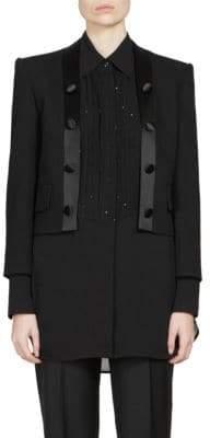 Givenchy Heavy Wool Crepe Tuxedo Jacket