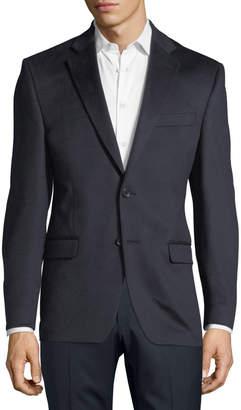 Neiman Marcus Cashmere Two-Button Blazer Navy